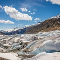 Aletsch Glacier spring melt